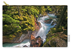 Carry-all Pouch featuring the photograph Avalanche Gorge by Gary Lengyel