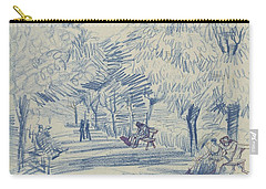 Avenue In A Park Arles, May 1888 Vincent Van Gogh 1853 - 1890 Carry-all Pouch