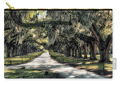 Carry-all Pouch featuring the photograph Avenue Of Oaks by Jim Hill