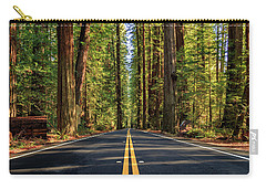 Carry-all Pouch featuring the photograph Avenue Of The Giants by James Eddy