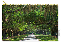 Avenue Of The Oaks At Boonville Plantation Carry-all Pouch