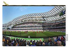 Carry-all Pouch featuring the photograph Aviva Stadium Panorama - Dublin by Barry O Carroll