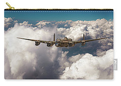 Carry-all Pouch featuring the photograph Avro Lancaster Above Clouds by Gary Eason