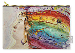 Carry-all Pouch featuring the painting Awakening Consciousness by Donna Walsh