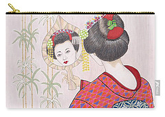Ayano -- Portrait Of Japanese Geisha Girl Carry-all Pouch