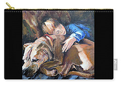 Ayvre And Jazzy  Carry-all Pouch by Jodie Marie Anne Richardson Traugott          aka jm-ART