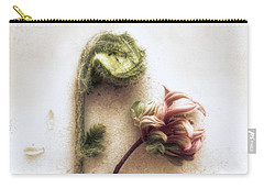 Azalea And Fiddle-head Fern #2 Carry-all Pouch by Louise Kumpf
