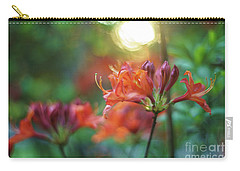 Azaleas Golden Light From Above Carry-all Pouch by Mike Reid