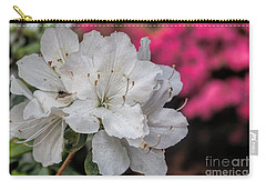 Carry-all Pouch featuring the photograph Azaleas In Turtle Creek by Diana Mary Sharpton