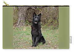 Carry-all Pouch featuring the photograph Aziza Sitting by Sandy Keeton