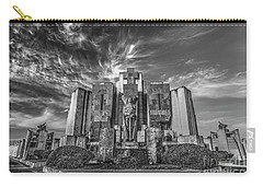 Carry-all Pouch featuring the photograph Azul Cemetery by Bernardo Galmarini