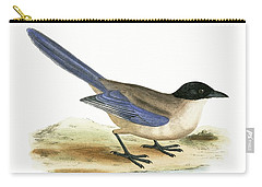 Azure Winged Magpie Carry-all Pouch