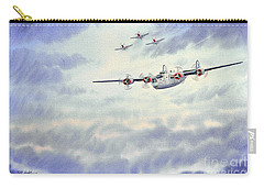 Carry-all Pouch featuring the painting B-24 Liberator Aircraft Painting by Bill Holkham