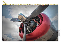 Carry-all Pouch featuring the photograph B-24j Liberator Engine II by Kristia Adams