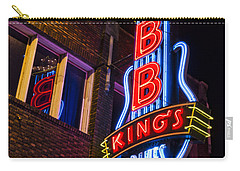 B B Kings On Beale Street Carry-all Pouch by Stephen Stookey