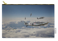 Carry-all Pouch featuring the digital art B17 - Luftwaffe Battleground by Pat Speirs
