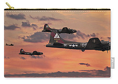Carry-all Pouch featuring the digital art B17 - Sunset Home by Pat Speirs