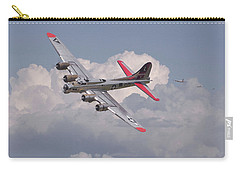 Carry-all Pouch featuring the photograph B17 - The Last Lap by Pat Speirs