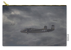 Carry-all Pouch featuring the digital art B25 - 12th Usaaf by Pat Speirs