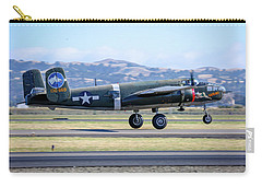 B25 Mitchell Bomber Take Off At Livermore Carry-all Pouch