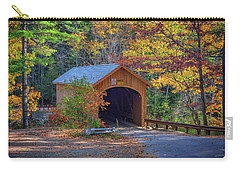 Carry-all Pouch featuring the photograph Babb's Bridge In Autumn by Rick Berk