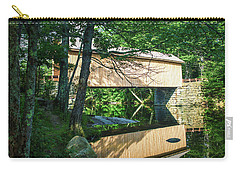 Carry-all Pouch featuring the photograph Babb's Covered Bridge by Guy Whiteley