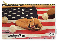 Babe Ruth Baseball Quote Carry-all Pouch by Dan Sproul