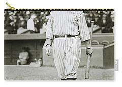 Babe Ruth Going To Bat Carry-all Pouch
