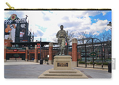 Carry-all Pouch featuring the photograph Babes Dream - Camden Yards Baltimore by Bill Cannon