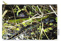 Baby Alligator 001 Carry-all Pouch by Chris Mercer