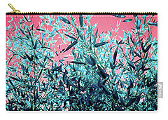 Baby Bamboo - Deep Pink And Blue Carry-all Pouch