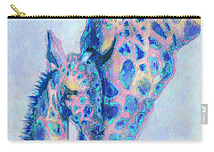 Baby Blue  Giraffes Carry-all Pouch