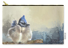 Baby Bluejay In Winter Carry-all Pouch