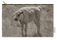Carry-all Pouch featuring the photograph Baby Buffalo by Rebecca Margraf