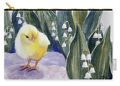 Baby Chick And Lily Of The Valley Flowers Carry-all Pouch