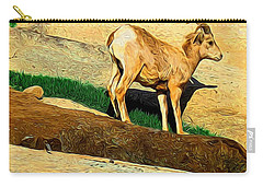 Baby Desert Bighorn In Abstract Carry-all Pouch