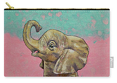 Baby Elephant Carry-all Pouch by Michael Creese