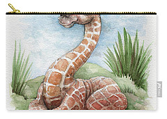 Carry-all Pouch featuring the painting Baby Giraffe by Lora Serra