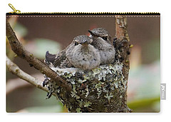 Baby Hummingbirds In Nest Carry-all Pouch