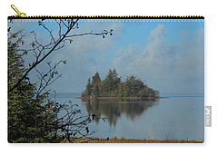 Carry-all Pouch featuring the photograph Baby Island In Willapa Bay by E Faithe Lester