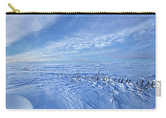 Carry-all Pouch featuring the photograph Baby It's Cold Outside by Phil Koch