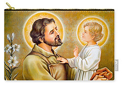 Baby Jesus Talking To Joseph Carry-all Pouch