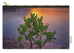 Baby Mangrove Sunset At Indian River State Park Carry-all Pouch by Justin Kelefas