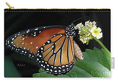 Baby Monarch Macro Carry-all Pouch by Felipe Adan Lerma