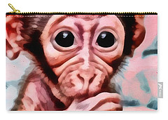 Baby Monkey Realistic Carry-all Pouch by Catherine Lott