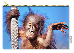 Baby Orangutan Climbing Carry-all Pouch by Stephanie Hayes