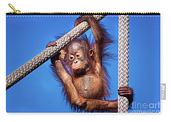 Baby Orangutan Hanging Out Carry-all Pouch by Stephanie Hayes