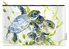 Baby Sea Turtles In The Sea Carry-all Pouch
