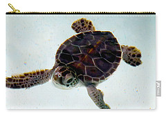 Carry-all Pouch featuring the photograph Baby Turtle by Francesca Mackenney