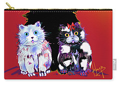 Baby Wu, Baby Moo, And Snowflake Dizzycats Carry-all Pouch